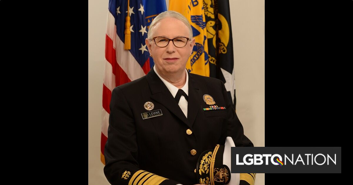 Dr. Rachel Levine becomes first transgender four-star officer across all uniformed service branches