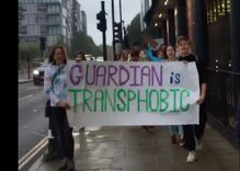 Guardian columnist ties cis male murderer to trans women. Now people are protesting their office.