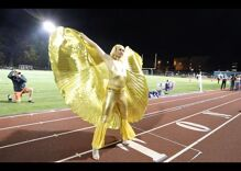 High school puts on a drag show for its homecoming halftime show