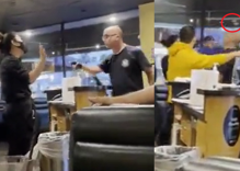 Anti-masker threatens restaurant employee but he's the one who gets punched in the face instead
