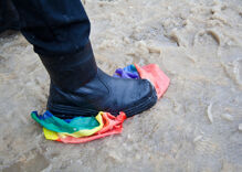 School issues tone-deaf response after teens defecate on teacher's Pride flag & flush it down toilet