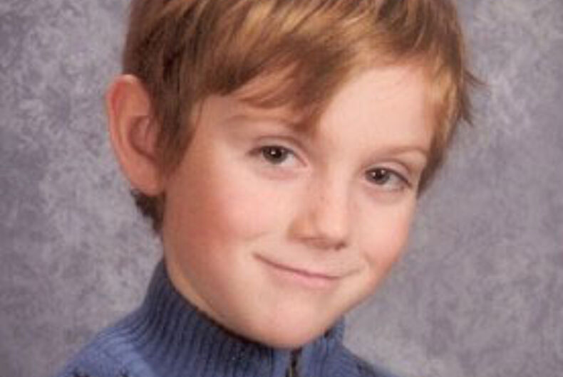 Seven-year-old benefactor supports LGBT equality