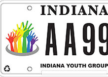 Indiana gay youth group first in nation to get specialty auto license plates