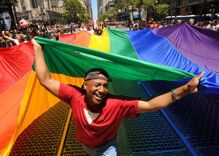 President Obama and a little victory dance for the LGBT community…