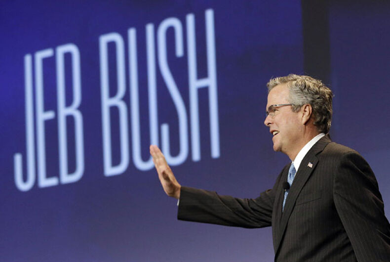 Jeb Bush: No constitutional right to same-sex marriage; businesses should be able to refuse gays