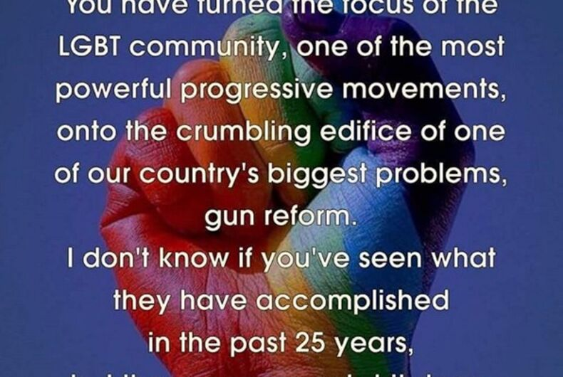 The gays are going to war: LGBT groups will push for gun control